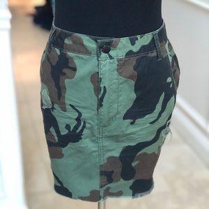 Camo 100% cotton skirt